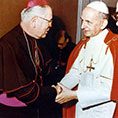 Bishop Borders with Pope Paul VI.